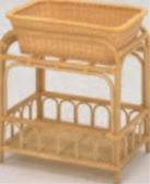ラタンランドリー(脱衣かご付) No.124【代引き不可】【風呂用品】【温泉用品】【浴室】【銭湯】【旅館用品】【1-836-12】