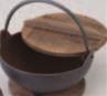 民芸みやま鍋(内面ホーロー加工) 30cm【宴会】【会席】【鍋】【卓上鍋】【旅館用品】【料亭】【1-845-20】