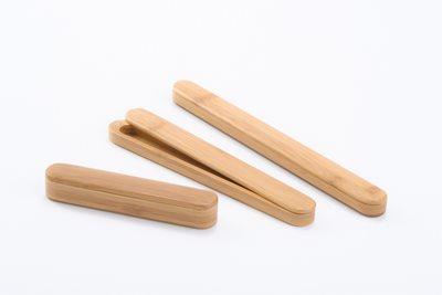 ■3コセット■スス竹マグネット箸箱(大)(クリヤー)■3コセット■