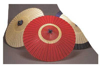 蛇の目傘(中張)(赤)【代引き不可】