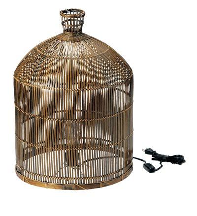 竹ランプシェード(鳥篭)(小)