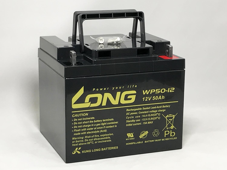 LONG 送料無料 標準タイプ 期待寿命3~5年 12V50Ah 高性能シールドバッテリー 完全密閉型鉛蓄電池 WP50-12 12V電源用に 汎用タイプ UPS 無停電電源装置 などに