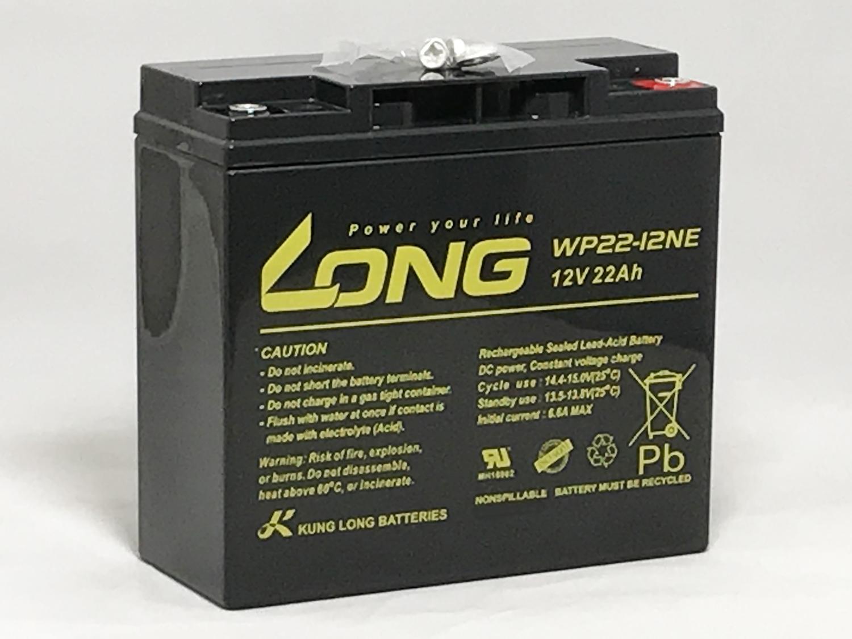 人気LONGバッテリー WP22-12NE 高価値 キャンペーンもお見逃しなく バイク用にも人気です 完全密閉型なので液漏れやガスの放出が無く 様々な機器の電源として利用できる高性能シールドバッテリーです 送料無料 12V22Ah シールドバッテリー LONG 期待寿命3~5年 セニアカー 耐久性1.5倍 完全密封型鉛蓄電池 高サイクル 電動バイク 高性能 電動リール