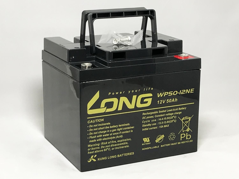 LONG 12V50Ah シールドバッテリー WP50-12NE 高サイクルタイプ 耐久性1.5倍 期待寿命3~5年 完全密封型鉛蓄電池 セニアカー 電動車椅子 溶接機 電動カー ソーラー発電用バッテリー などに最適