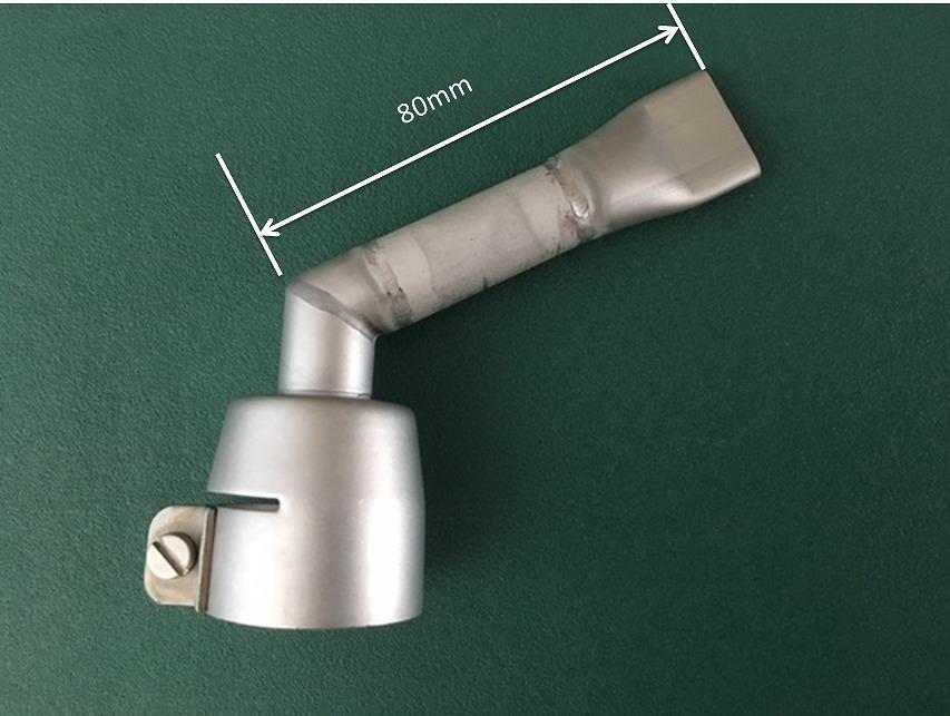 新発売 ライスター 20mm平型ロングノズル 垂直曲げ改造 + 30mm延長ノズル トリアック用(受注生産品)送料無料 熱風機 溶接機