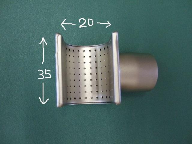 ライスター純正品 反射型ノズル 35x20mm トリアック用(収縮チューブ等に最適)送料無料 スイス取寄せ品 熱風機 溶接機