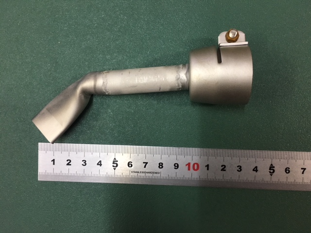 新発売 ライスター 20mm平型ロングノズル 全長130mm + 45度曲げ改造ノズル 受注生産品 トリアック用 熱風機 溶接機