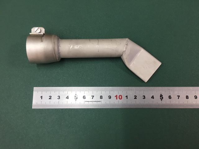 新発売 ライスター 30mm幅 平型ロングノズル 全長150mm + 45度曲げ改造ノズル 受注生産品 トリアック用 熱風機 溶接機
