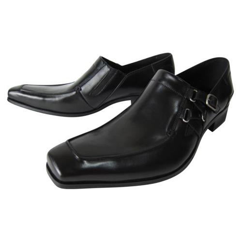 KATHARINE HAMNETT ビジネスシューズ マーケティング 3970 送料無料 お気に入り HAMNETT高級本革ビジネスシューズ マッケー製法クロスモンク本革紳士靴