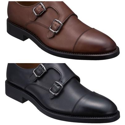 07TRCE REGAL 予約販売品 送料無料 牛革 GORE-TEX 紳士靴 ダブルモンクストラップ フットウェア お金を節約