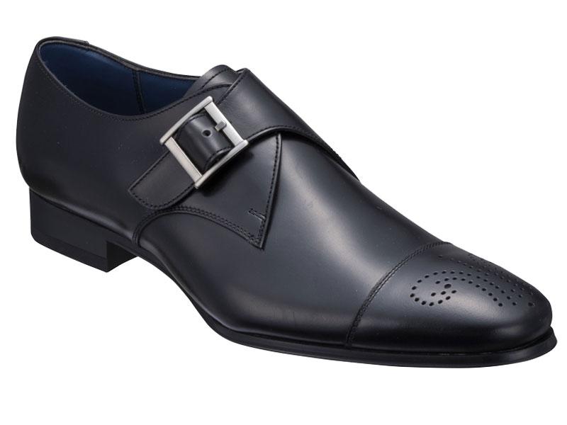 27VRBC 付与 激安特価品 REGAL 送料無料 牛革 紳士靴 モンクストラップ 日本製 セミマッケイ式ビジネスシューズ