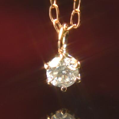 【P10倍+クーポン配布中】天然ダイヤモンドネックレス 6本爪 ダイヤモンド ペンダント 1粒石 4月誕生石