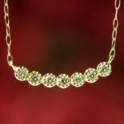 天然ダイヤモンドセブンストーンネックレス【ダイヤモンド】【ネックレス】【ペンダント】【セブンストーン】【4月誕生石】【4月】【誕生日プレゼント】