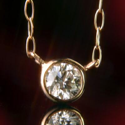 【P10倍+クーポン配布中】天然ダイヤモンドネックレス【ダイヤモンド】【ネックレス】【ペンダント】【フクリン】【4月誕生石】【4月】【誕生日プレゼント】