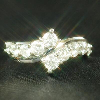 【クーポン配布中】Pt900プラチナスイートテンダイヤモンドリング 1.0ct スイートテンダイヤリング スイートテン