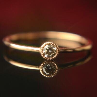 【クーポン配布中】天然ダイヤモンドリング『un -アン-』【ダイヤモンド】【リング】【ピンキーリング】