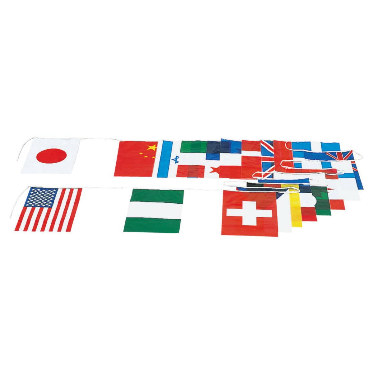 EVERNEW エバニュー 万国旗 P 運動会用品 xa-eka383 連結式 人気商品 国旗 正規店 20ヶ国セット