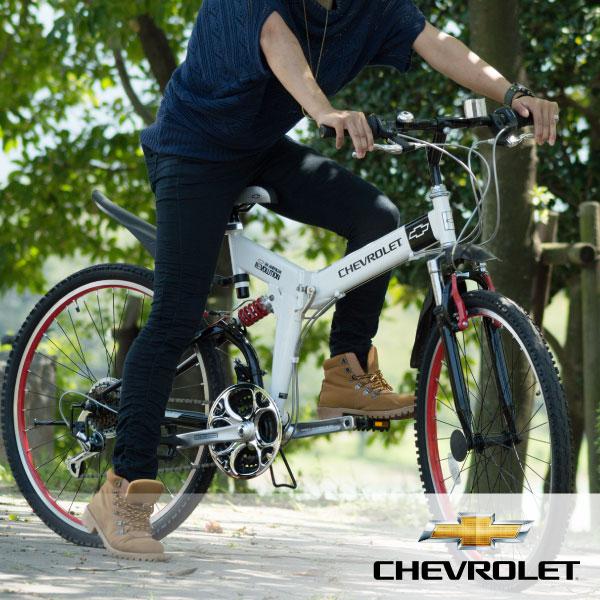 【代引き・同梱不可】【折り畳み自転車】 CHEVROLET WサスFD-MTB26 18S/折りたたみ自転車/自転車 サイクリング/365 折畳