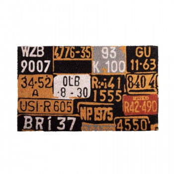 チープ 玄関をカッコよくおしゃれにイメージチェンジ セトクラフト 人気ブレゼント コイヤーマット PLATE NUMBER SC-2116