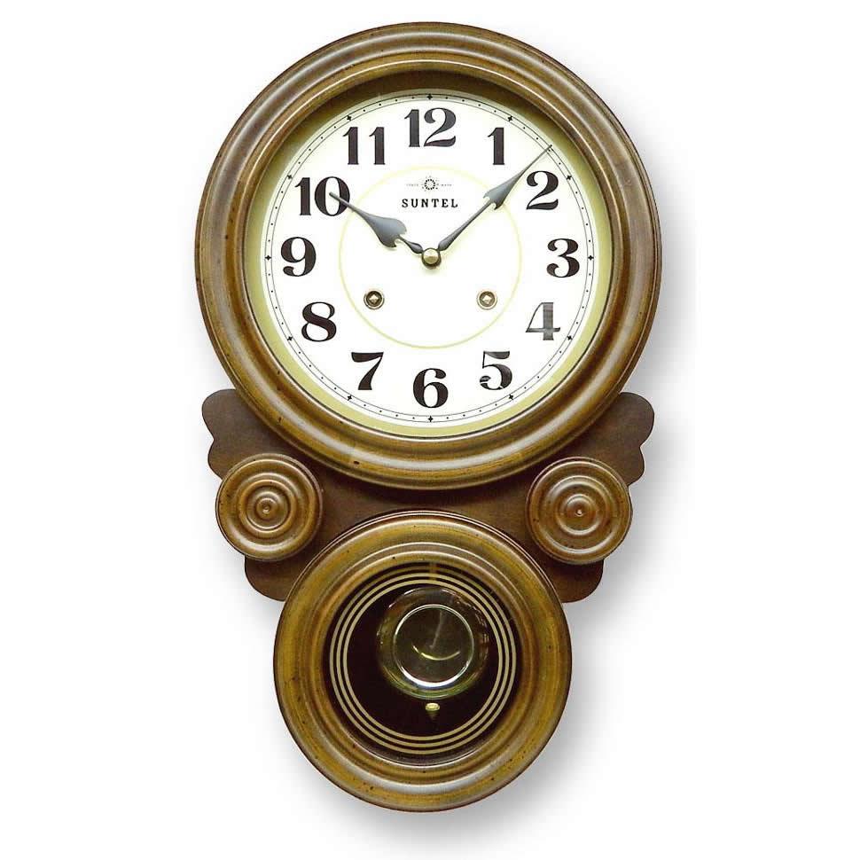ボンボン振り子だるま時計(アラビア文字) QL687【置物・掛け時計】