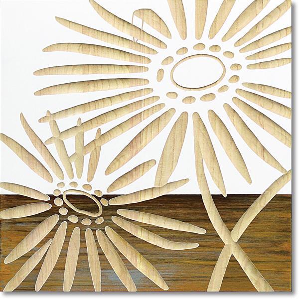 ユーパワー Wood Sculpture Art ウッド スカルプチャー アート ネーチャー ガーベラ2 (WH+NP) SA-15067【その他インテリア】
