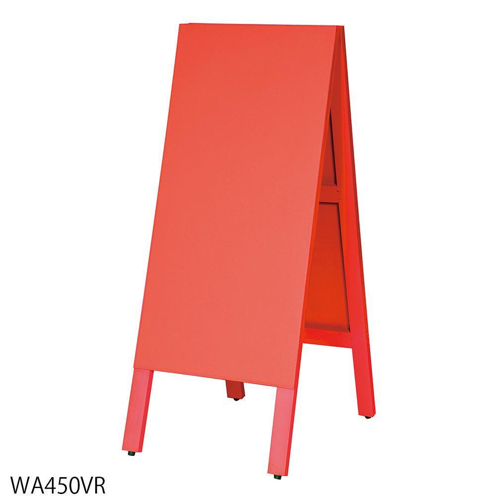 【代引き・同梱不可】馬印 多目的A型案内板 赤いこくばん WA450VR【文具】