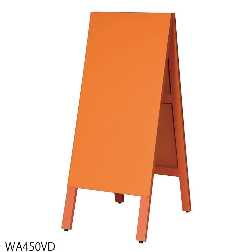 【代引き・同梱不可】馬印 多目的A型案内板 オレンジこくばん WA450VD【文具】