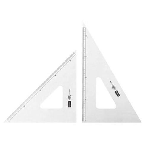 目盛り付きの三角定規です 三角定規 24cm×2mm 海外限定 1-809-2402 内祝い 目盛り付き
