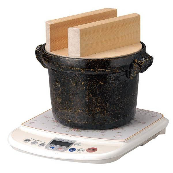 117-9 IH対応 電磁用ごはん鍋 5合用 白木蓋付【調理用品】