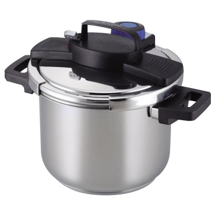 3層底ワンタッチレバー圧力鍋5.5L H-5389【調理用品】