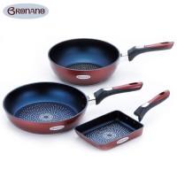 BRONANO(ブラナーノ) IH対応 フライパン 3点セット BM-9529【鍋(パン)】