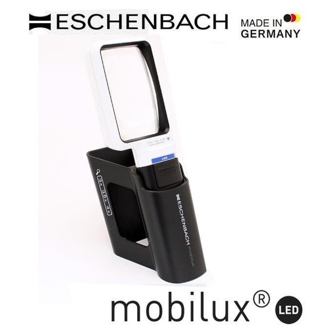 エッシェンバッハ mobiluxLED+mobase LEDワイドライトルーペ&専用スタンド 50×75mm(3.5倍) 1511-3M【文具】