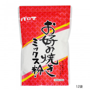 こだわりのお好み焼きミックス粉です 和泉食品 パロマお好み焼きミックス粉 12袋 供え 山芋入り 500g 新色追加して再販