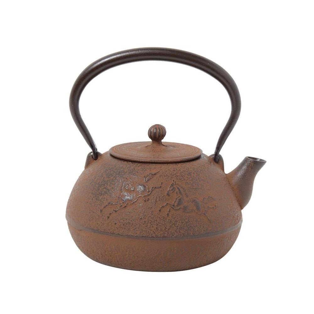 南部鉄器 宝生堂 鉄瓶(鉄蓋) 平成丸馬肌(錆色) 1L 700106【鍋(パン)】