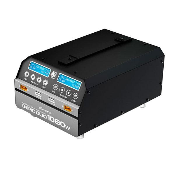 新作続 最大1080Wの大出力 AC100V対応 6セルLiPoを2本同時充電可能 G-FORCE ジーフォース G6AC DUO 春の新作続々 1080W G0240 6セルLiPo専用 玩具 充電器