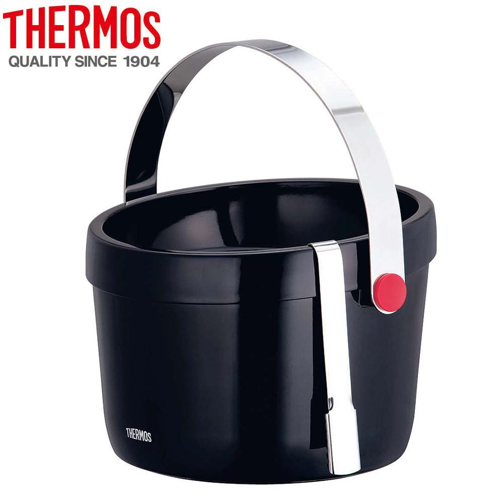6-1705-0501 THERMOS(サーモス)  二重アイスペール 3L TPF-3000(BK)【調理用品】