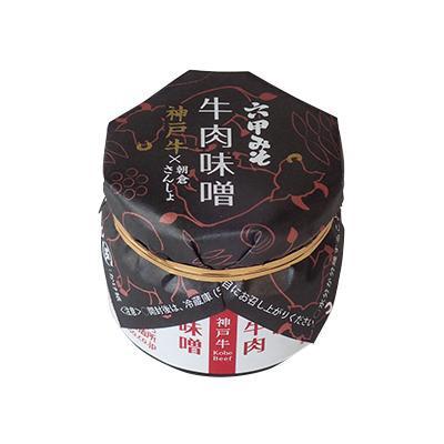 【代引き・同梱不可】六甲味噌製造所 牛肉味噌 (ビン入り) 80g×12個【調味料】