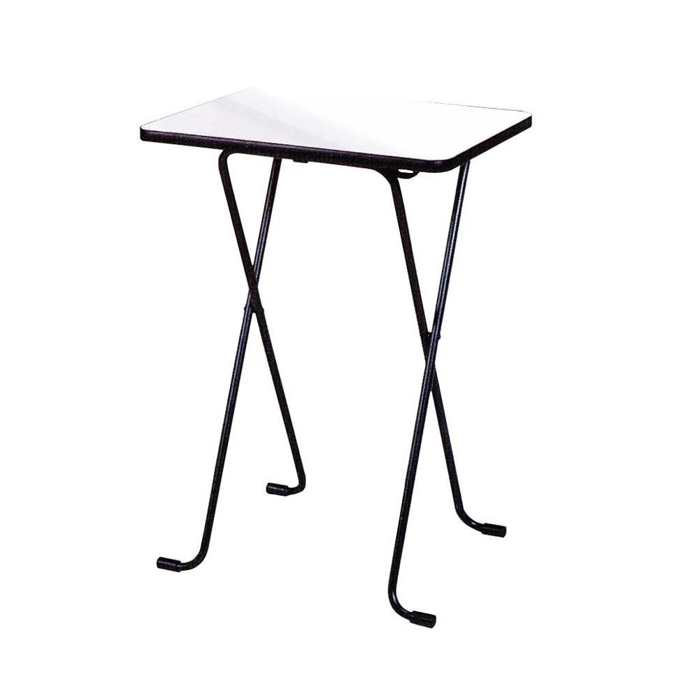 ルネセイコウ ハイテーブル ニューグレー・ブラック 日本製 完成品 WT-82【家具 イス テーブル】