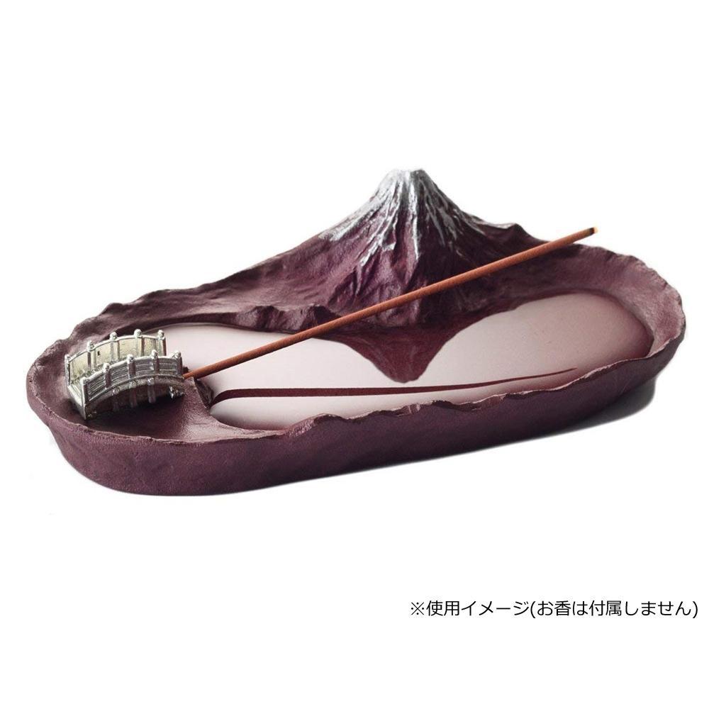 水面に富士山が映り込む小さな香立て インセンスホルダー 香立て 直営限定アウトレット さかさ富士 メーカー直送 赤富士 その他インテリア