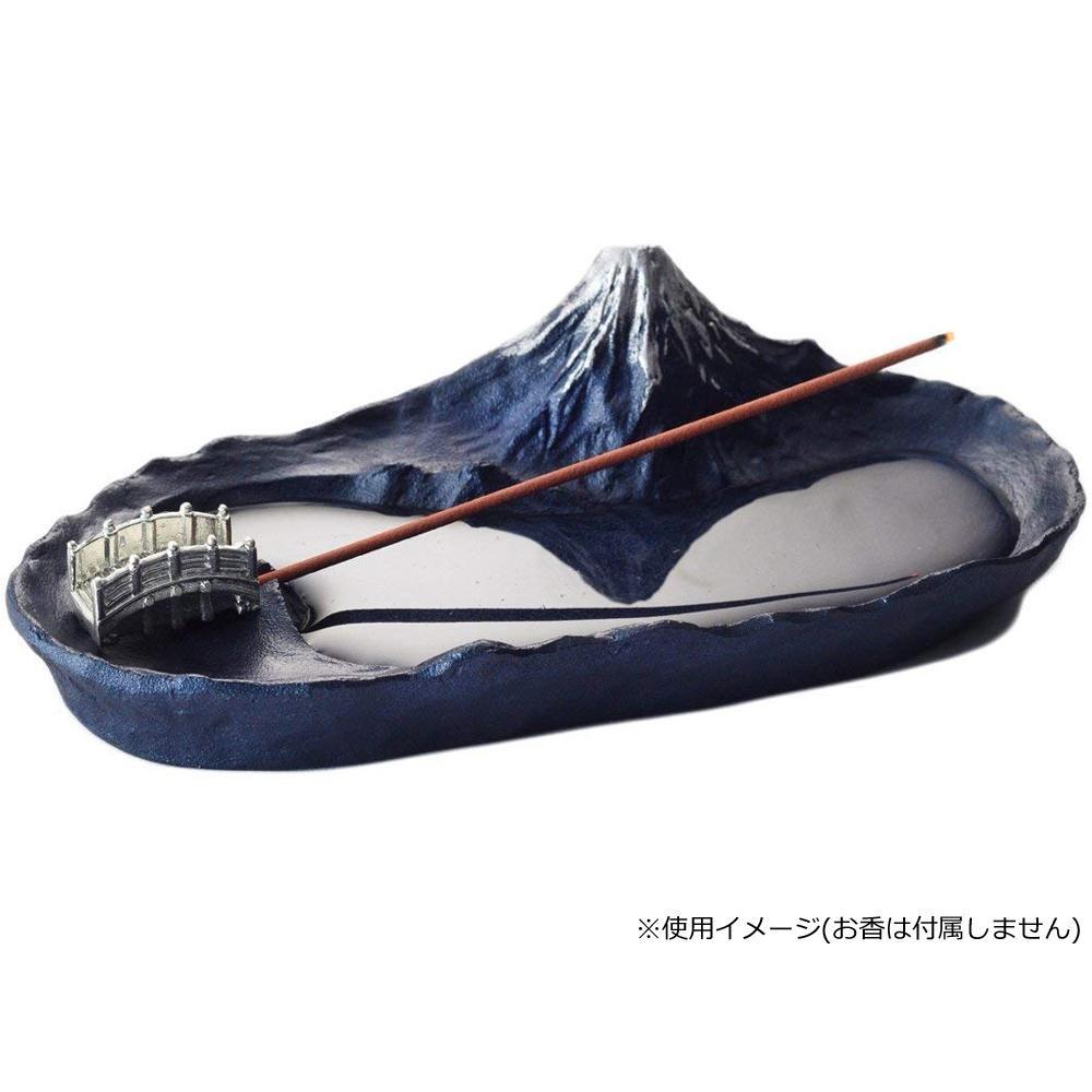 水面に富士山が映り込む小さな香立て インセンスホルダー 香立て 青富士 その他インテリア ☆新作入荷☆新品 輸入 さかさ富士