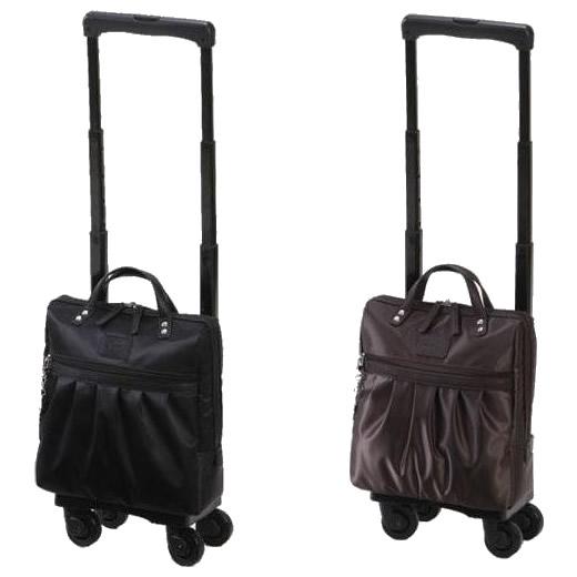4輪ストッパー 売却 背面フックでバッグを固定する新機能 SWANY スワニー ウォーキングバッグ D-242 ブラック バッグ TS15 クレーペ 限定モデル 4輪ストッパー付 24294
