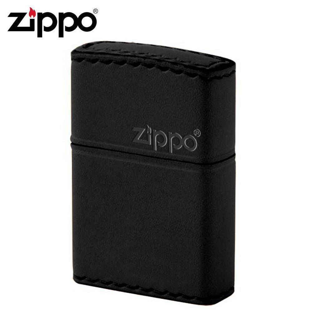 ZIPPO(ジッポー) オイルライター B-5革巻き 横ロゴ ブラック【玩具】