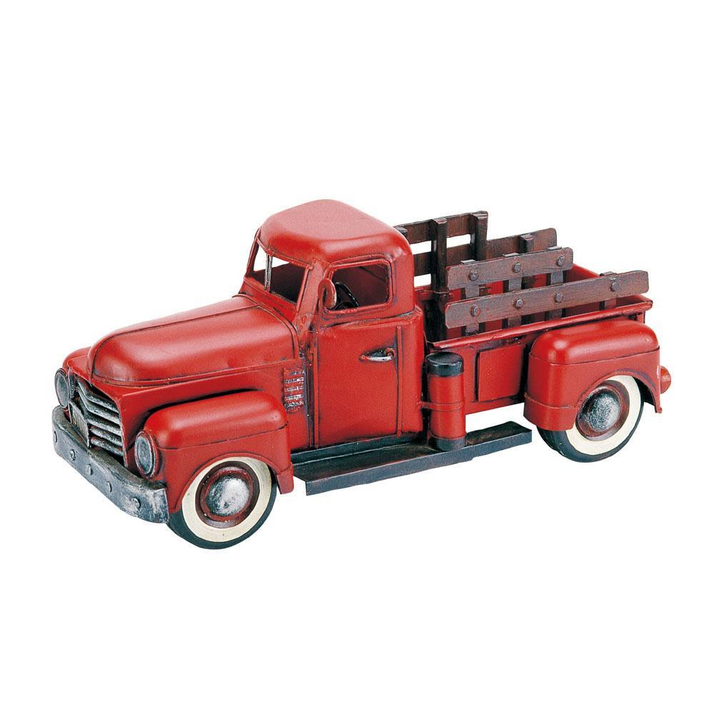 アンティークオブジェ ブリキのおもちゃ(pickup red) 27172【その他インテリア】