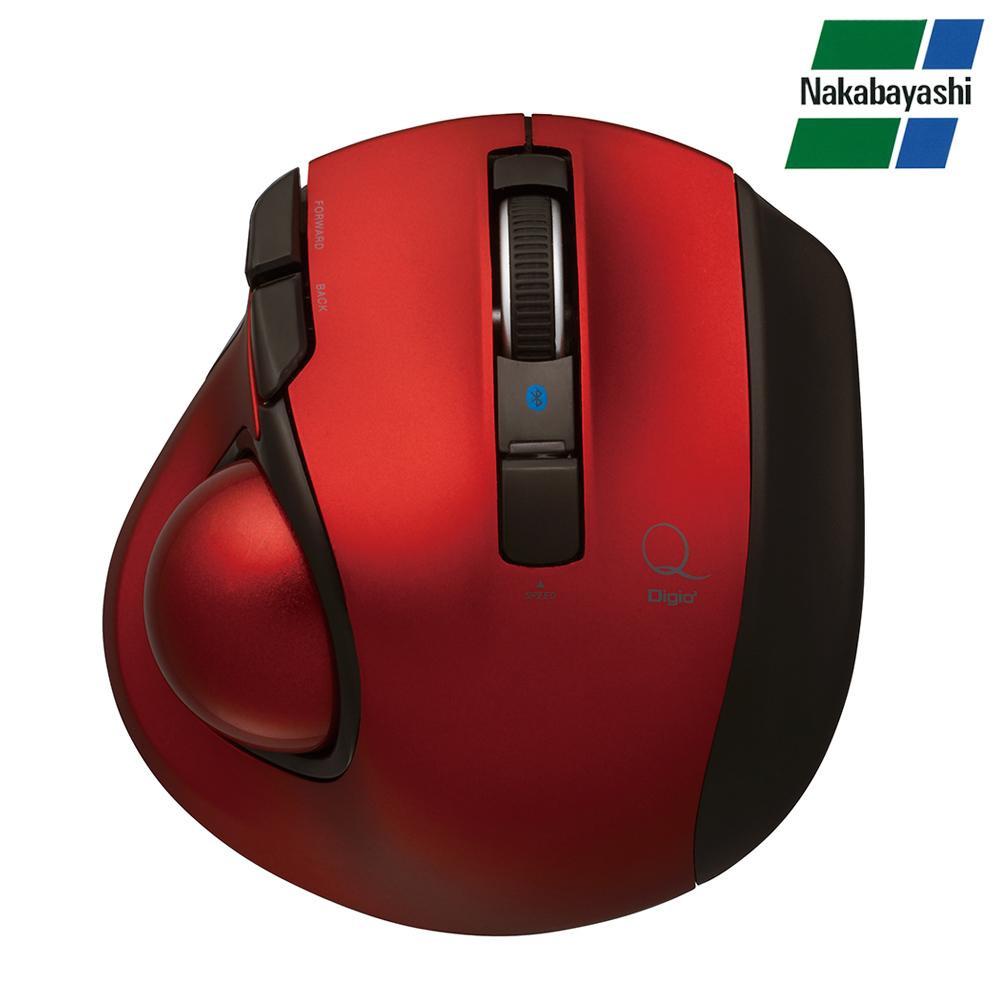 ナカバヤシ Digio2 極小トラックボール「Q」 小型 Bluetooth 静音 5ボタントラックボール レッド MUS-TBLF134R【PC・携帯関連】