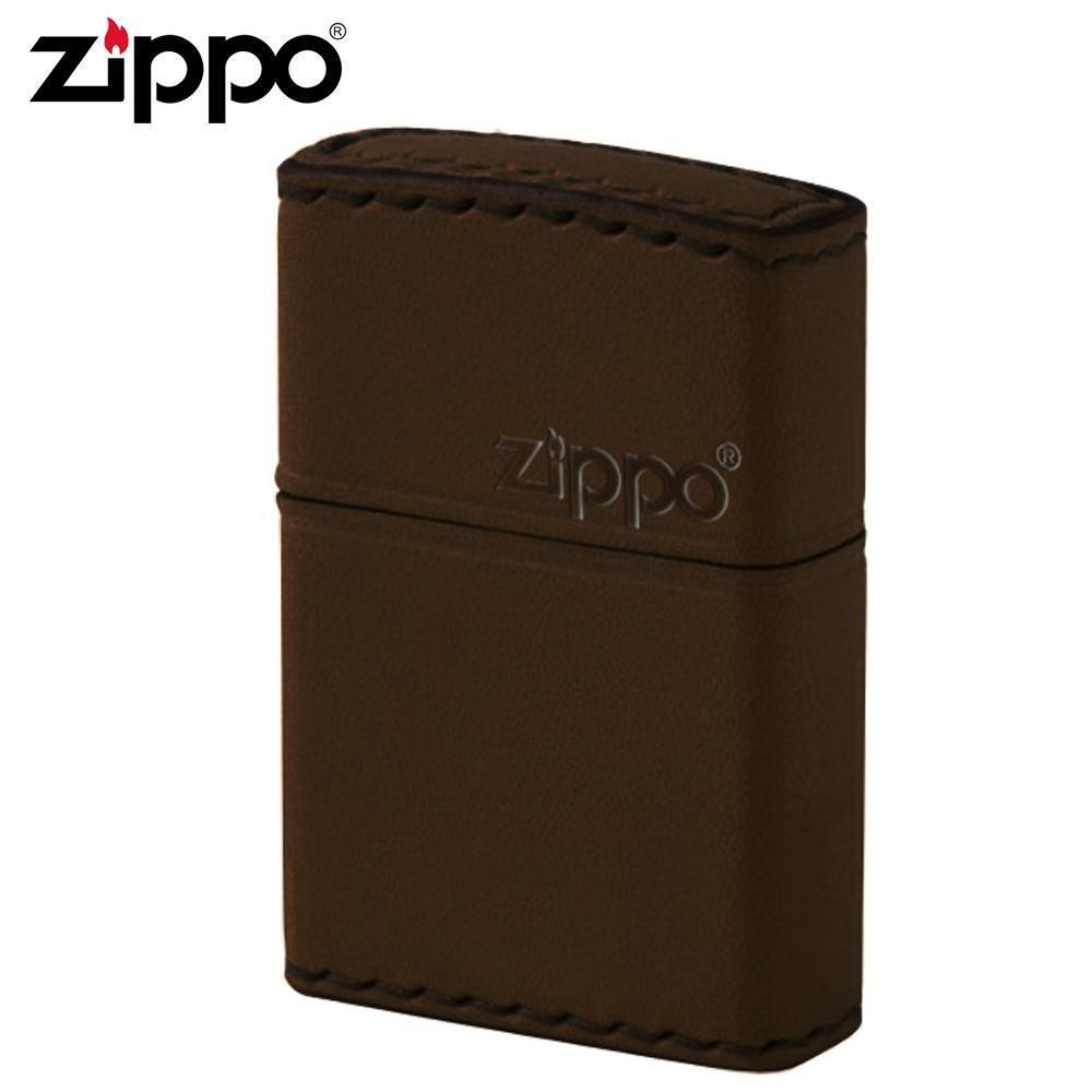 ZIPPO(ジッポー) オイルライター DB-5革巻き 横ロゴ ブラウン【玩具】