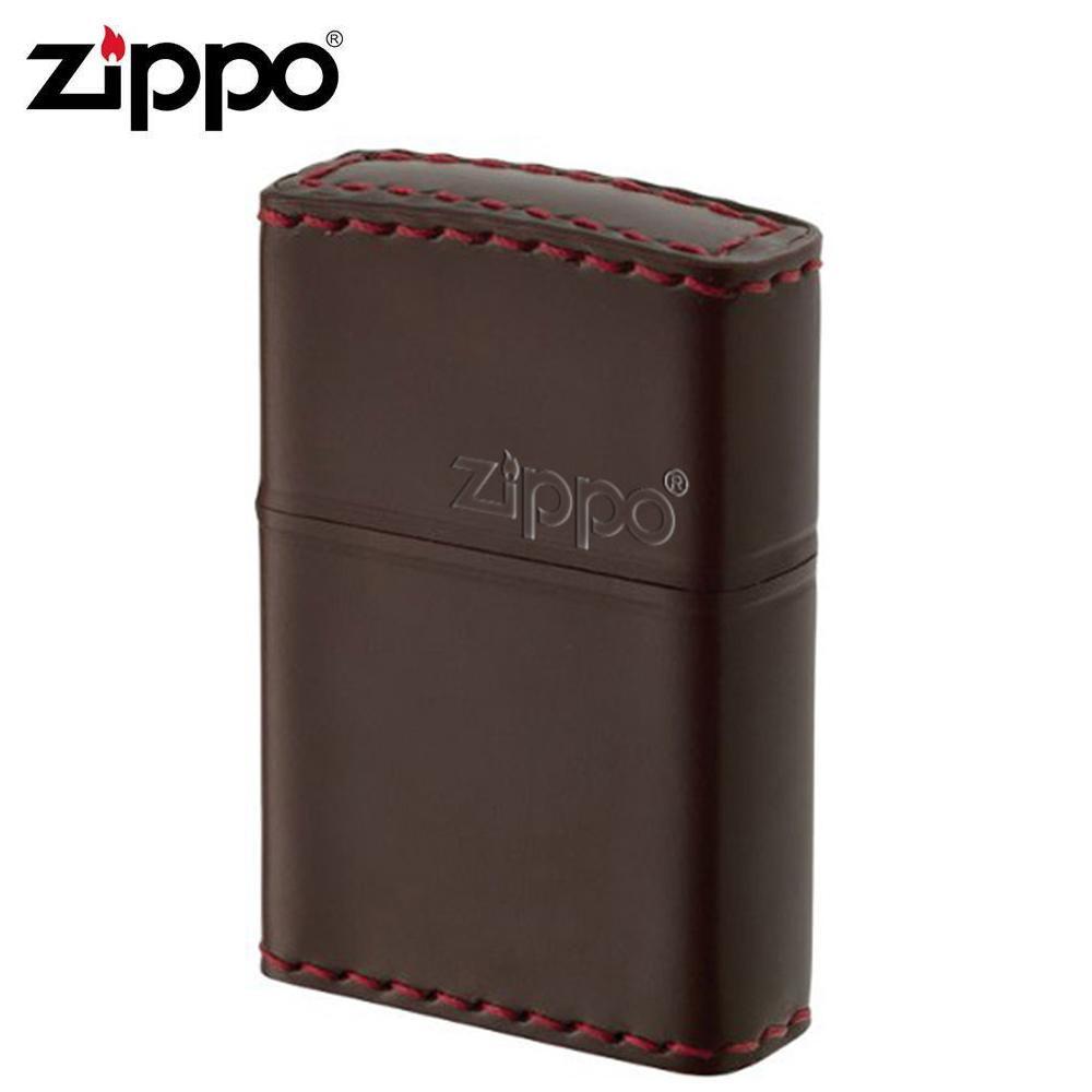 ZIPPO(ジッポー) オイルライター CC-5革巻き 横ロゴ コードバン チョコ【玩具】