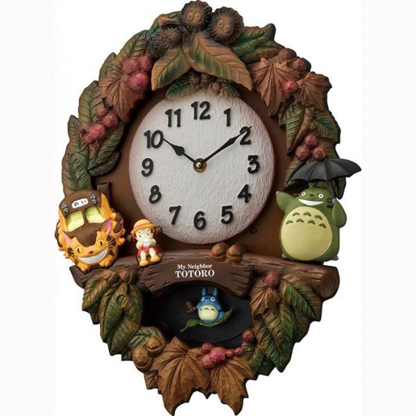リズム時計 キャラクタークロック トトロ M429 06茶色ボカシ仕上 4MJ429-M06【置物・掛け時計】