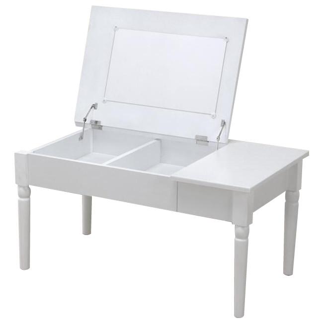 【代引き・同梱不可】サン・ハーベスト コスメテーブル LT-900 WH・ホワイト【機能家具】