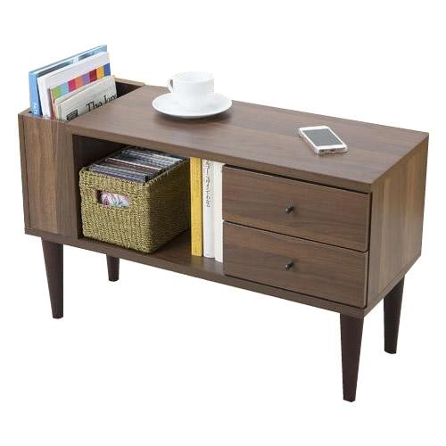 【代引き・同梱不可】サン・ハーベスト 向きが変わるサイドテーブル LT-600【家具 イス テーブル】