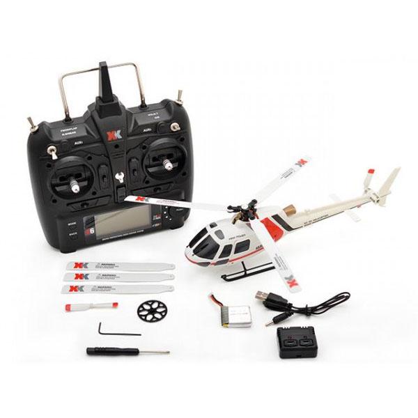 ハイテック XK製品 6CH ブラシレスモーター 3D6Gシステムヘリコプター AS350 K123 RTFキット【玩具】